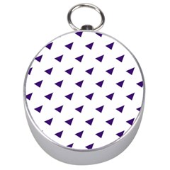 Triangle Purple Blue White Silver Compasses