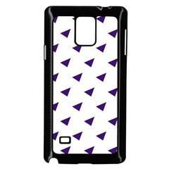 Triangle Purple Blue White Samsung Galaxy Note 4 Case (Black)