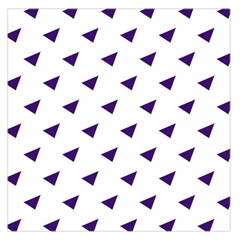 Triangle Purple Blue White Large Satin Scarf (Square)