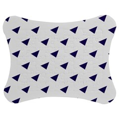 Triangle Purple Blue White Jigsaw Puzzle Photo Stand (Bow)
