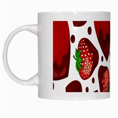 Strawberry Hearts Cocolate Love Valentine Pink Fruit Red White Mugs