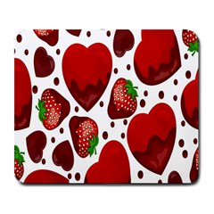 Strawberry Hearts Cocolate Love Valentine Pink Fruit Red Large Mousepads