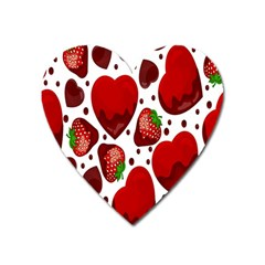 Strawberry Hearts Cocolate Love Valentine Pink Fruit Red Heart Magnet