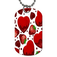 Strawberry Hearts Cocolate Love Valentine Pink Fruit Red Dog Tag (two Sides)