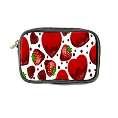 Strawberry Hearts Cocolate Love Valentine Pink Fruit Red Coin Purse