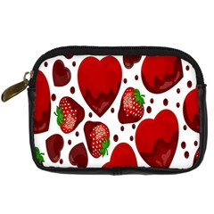 Strawberry Hearts Cocolate Love Valentine Pink Fruit Red Digital Camera Cases