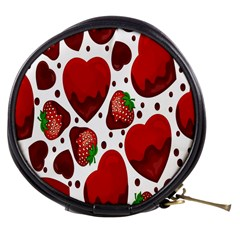 Strawberry Hearts Cocolate Love Valentine Pink Fruit Red Mini Makeup Bags