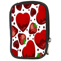 Strawberry Hearts Cocolate Love Valentine Pink Fruit Red Compact Camera Cases