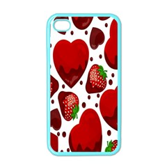 Strawberry Hearts Cocolate Love Valentine Pink Fruit Red Apple iPhone 4 Case (Color)