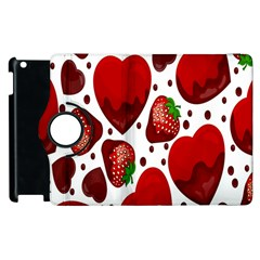 Strawberry Hearts Cocolate Love Valentine Pink Fruit Red Apple iPad 2 Flip 360 Case
