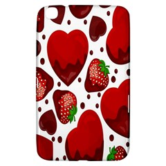 Strawberry Hearts Cocolate Love Valentine Pink Fruit Red Samsung Galaxy Tab 3 (8 ) T3100 Hardshell Case