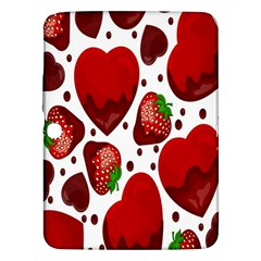 Strawberry Hearts Cocolate Love Valentine Pink Fruit Red Samsung Galaxy Tab 3 (10.1 ) P5200 Hardshell Case