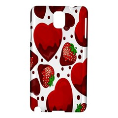 Strawberry Hearts Cocolate Love Valentine Pink Fruit Red Samsung Galaxy Note 3 N9005 Hardshell Case