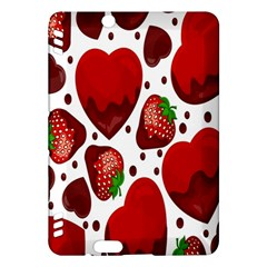 Strawberry Hearts Cocolate Love Valentine Pink Fruit Red Kindle Fire HDX Hardshell Case