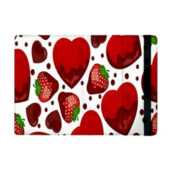 Strawberry Hearts Cocolate Love Valentine Pink Fruit Red iPad Mini 2 Flip Cases