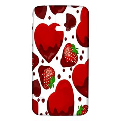 Strawberry Hearts Cocolate Love Valentine Pink Fruit Red Samsung Galaxy S5 Back Case (White)