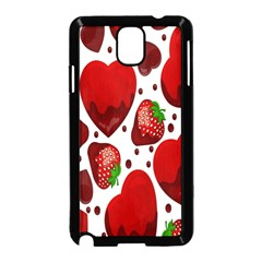 Strawberry Hearts Cocolate Love Valentine Pink Fruit Red Samsung Galaxy Note 3 Neo Hardshell Case (Black)