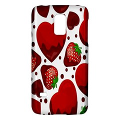 Strawberry Hearts Cocolate Love Valentine Pink Fruit Red Galaxy S5 Mini