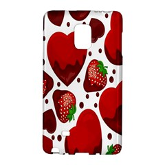 Strawberry Hearts Cocolate Love Valentine Pink Fruit Red Galaxy Note Edge