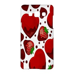 Strawberry Hearts Cocolate Love Valentine Pink Fruit Red Samsung Galaxy A5 Hardshell Case