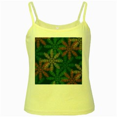 Spring Flower Red Grey Green Blue Yellow Spaghetti Tank