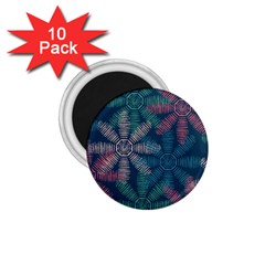 Spring Flower Red Grey Green Blue 1.75  Magnets (10 pack)