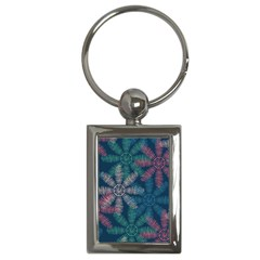 Spring Flower Red Grey Green Blue Key Chains (Rectangle)