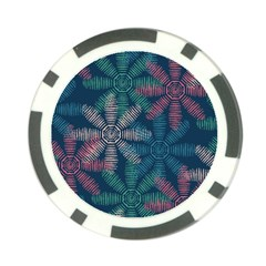 Spring Flower Red Grey Green Blue Poker Chip Card Guard
