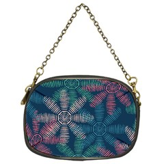 Spring Flower Red Grey Green Blue Chain Purses (One Side)