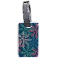 Spring Flower Red Grey Green Blue Luggage Tags (Two Sides)