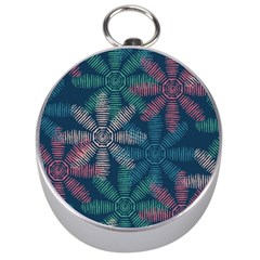 Spring Flower Red Grey Green Blue Silver Compasses