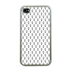 Woman Plus Sign Apple iPhone 4 Case (Clear)