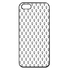 Woman Plus Sign Apple iPhone 5 Seamless Case (Black)