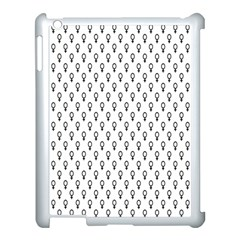 Woman Plus Sign Apple iPad 3/4 Case (White)