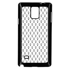 Woman Plus Sign Samsung Galaxy Note 4 Case (Black)
