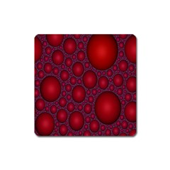 Voronoi Diagram Circle Red Square Magnet