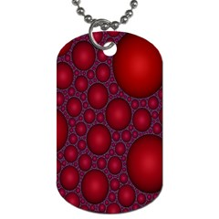 Voronoi Diagram Circle Red Dog Tag (one Side)