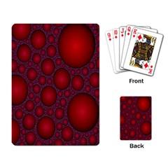 Voronoi Diagram Circle Red Playing Card
