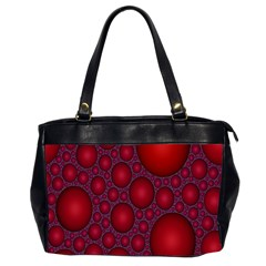Voronoi Diagram Circle Red Office Handbags (2 Sides)