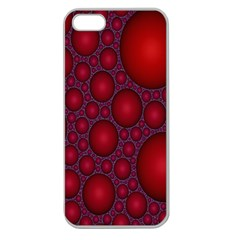 Voronoi Diagram Circle Red Apple Seamless iPhone 5 Case (Clear)