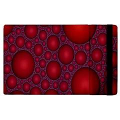 Voronoi Diagram Circle Red Apple iPad 3/4 Flip Case