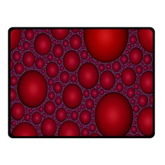 Voronoi Diagram Circle Red Double Sided Fleece Blanket (Small)