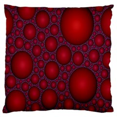 Voronoi Diagram Circle Red Large Flano Cushion Case (One Side)