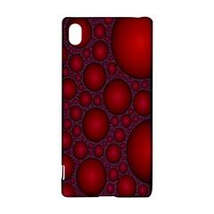 Voronoi Diagram Circle Red Sony Xperia Z3+