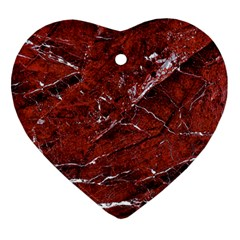 Texture Stone Red Ornament (heart)