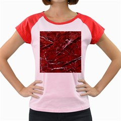 Texture Stone Red Women s Cap Sleeve T-Shirt