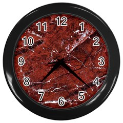 Texture Stone Red Wall Clocks (black)