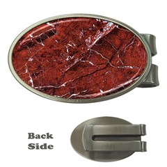 Texture Stone Red Money Clips (oval)