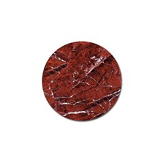 Texture Stone Red Golf Ball Marker