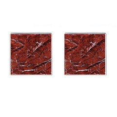 Texture Stone Red Cufflinks (square)